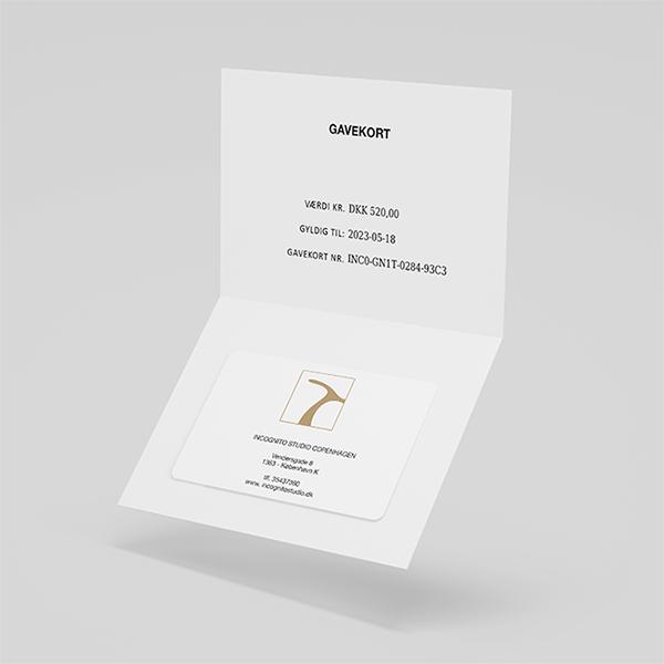 gavekort Incognito Studio